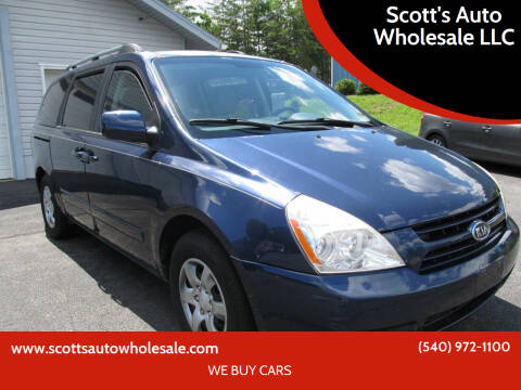2008 Kia Sedona for sale at Scott's Auto Wholesale LLC in Locust Grove VA