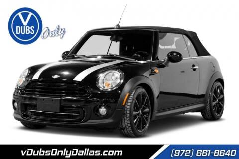 2012 MINI Cooper Convertible for sale at VDUBS ONLY in Dallas TX