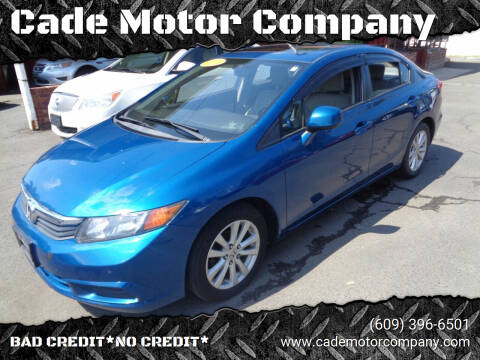 2012 Honda Civic for sale at Cade Motor Company in Lawrenceville NJ