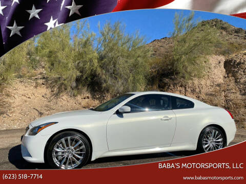 2013 Infiniti G37 Coupe for sale at Baba's Motorsports, LLC in Phoenix AZ