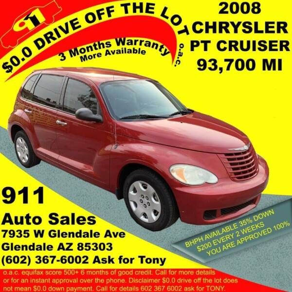 2008 Chrysler PT Cruiser for sale at 911 AUTO SALES LLC in Glendale AZ