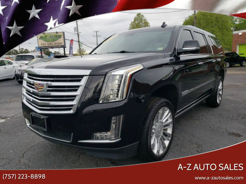 2016 Cadillac Escalade ESV for sale at A-Z Auto Sales in Newport News VA
