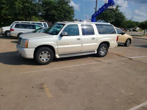 2004 Cadillac Escalade ESV for sale at Bad Credit Call Fadi in Dallas TX