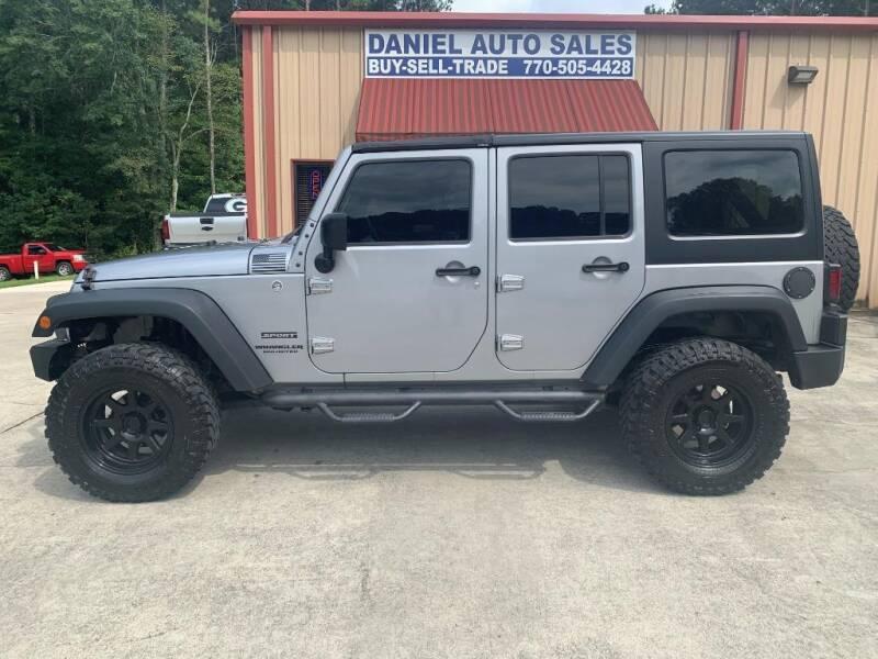 2015 Jeep Wrangler Unlimited for sale at Daniel Used Auto Sales in Dallas GA