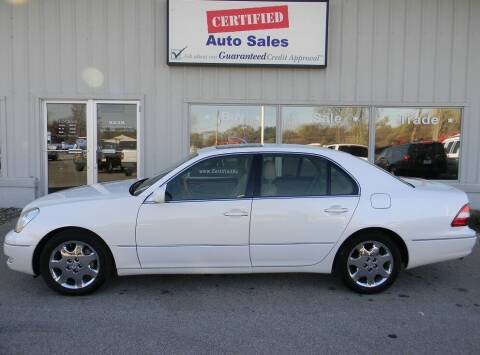 2001 Lexus LS 430 for sale at Certified Auto Sales in Des Moines IA