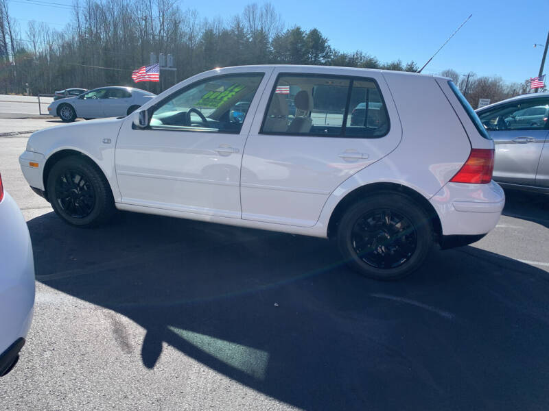 2001 Volkswagen Golf for sale at Doug White's Auto Wholesale Mart in Newton NC