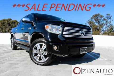 2017 Toyota Tundra for sale at Zen Auto Sales in Sacramento CA