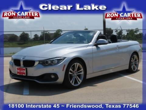 2018 BMW 4 Series for sale at Ron Carter  Clear Lake Used Cars in Houston TX