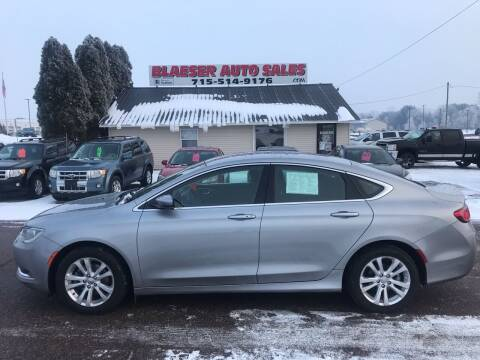 2015 Chrysler 200 for sale at BLAESER AUTO LLC in Chippewa Falls WI
