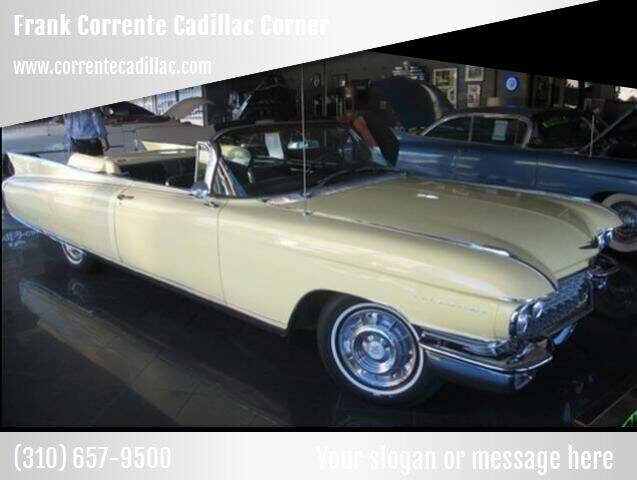 1960 Cadillac Eldorado for sale at Frank Corrente Cadillac Corner in Hollywood CA