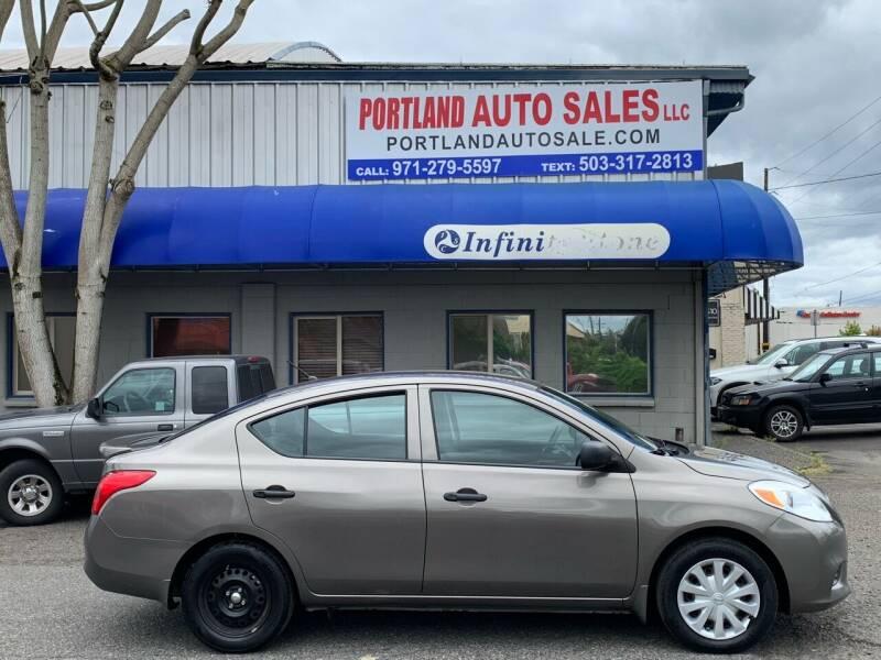2013 Nissan Versa for sale at PORTLAND AUTO SALES LLC. in Portland OR