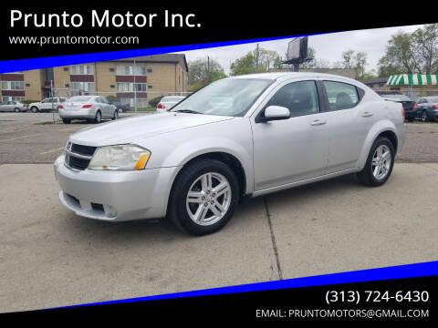 2010 Dodge Avenger for sale at Prunto Motor Inc. in Dearborn MI
