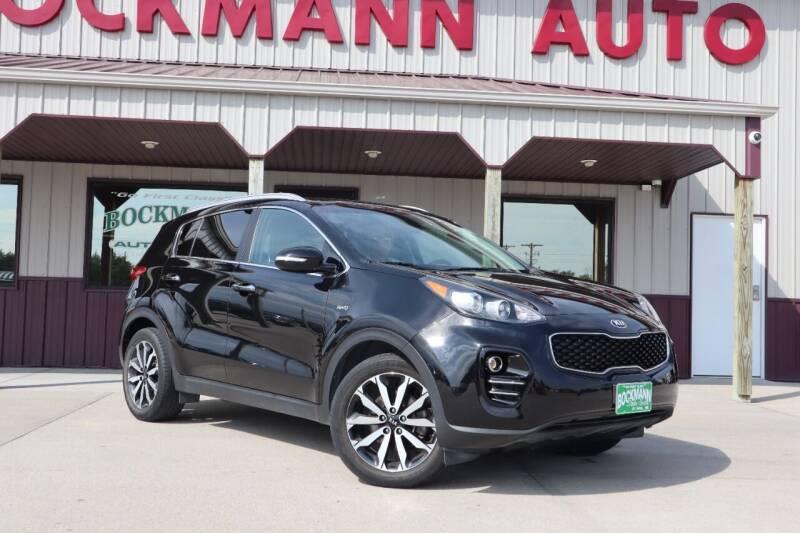 2017 Kia Sportage for sale at Bockmann Auto Sales in Saint Paul NE