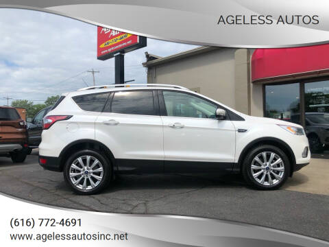 2018 Ford Escape for sale at Ageless Autos in Zeeland MI