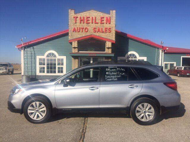 2017 Subaru Outback for sale at THEILEN AUTO SALES in Clear Lake IA