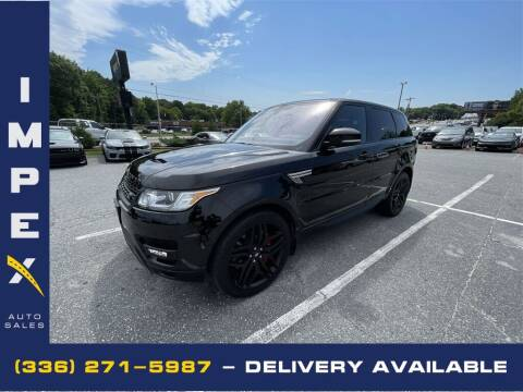 2016 Land Rover Range Rover Sport for sale at Impex Auto Sales in Greensboro NC