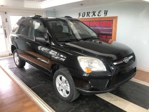 2009 Kia Sportage for sale at Forkey Auto & Trailer Sales in La Fargeville NY