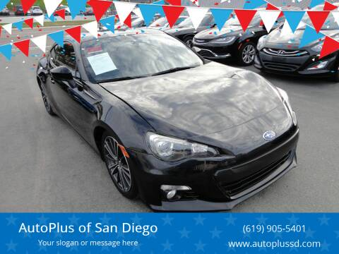 2015 Subaru BRZ for sale at AutoPlus of San Diego in Spring Valley CA