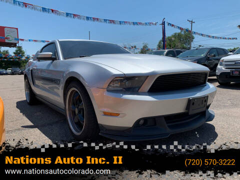 2012 Ford Mustang for sale at Nations Auto Inc. II in Denver CO