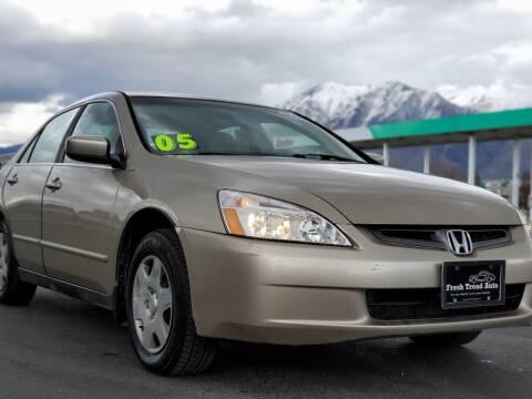 2005 Honda Accord for sale at FRESH TREAD AUTO LLC in Springville UT