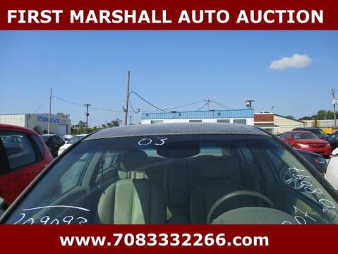 2003 Nissan Altima for sale at First Marshall Auto Auction in Harvey IL