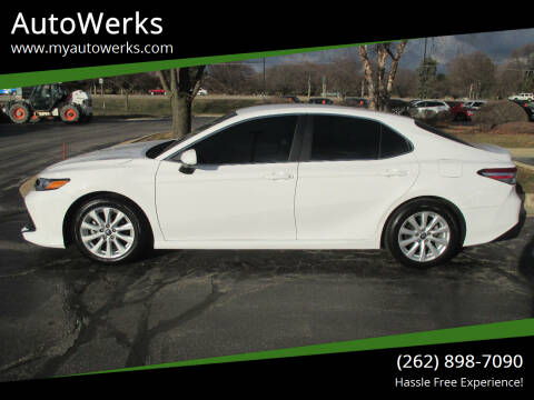 2018 Toyota Camry for sale at AutoWerks in Sturtevant WI