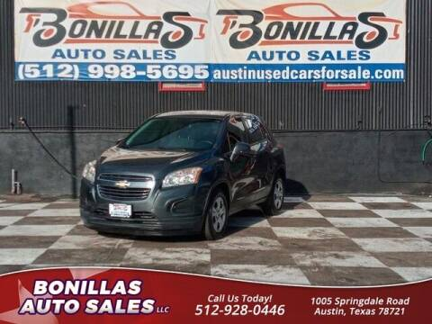 2016 Chevrolet Trax for sale at Bonillas Auto Sales in Austin TX