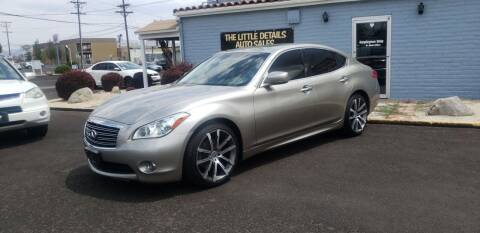 2011 Infiniti M37 for sale at The Little Details Auto Sales in Reno NV
