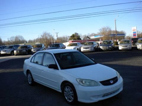 2004 Honda Civic for sale at CASABLANCA AUTO SALES in Greensboro NC