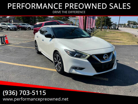 2016 Nissan Maxima for sale at PERFORMANCE PREOWNED SALES in Conroe TX