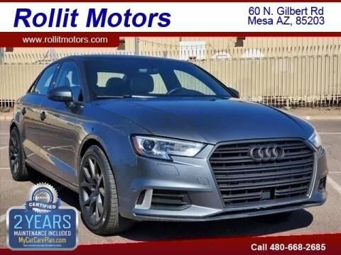 2018 Audi A3 for sale at Rollit Motors in Mesa AZ