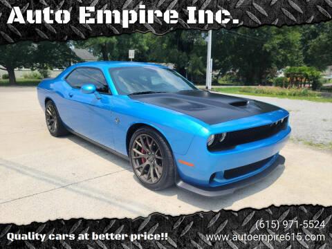 2016 Dodge Challenger for sale at Auto Empire Inc. in Murfreesboro TN
