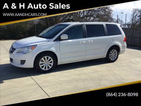 2012 Volkswagen Routan for sale at A & H Auto Sales in Greenville SC