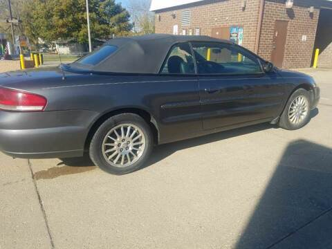 2005 Chrysler Sebring for sale at RIVERSIDE AUTO SALES in Sioux City IA