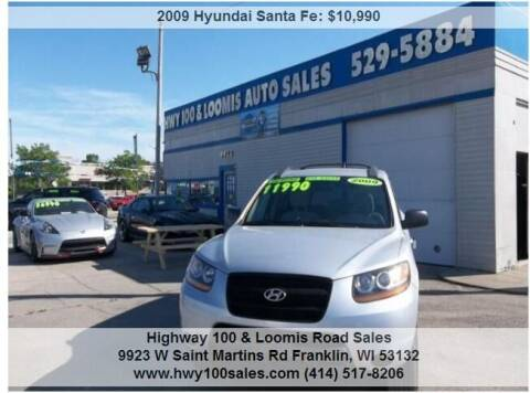 2009 Hyundai Santa Fe for sale at Highway 100 & Loomis Road Sales in Franklin WI