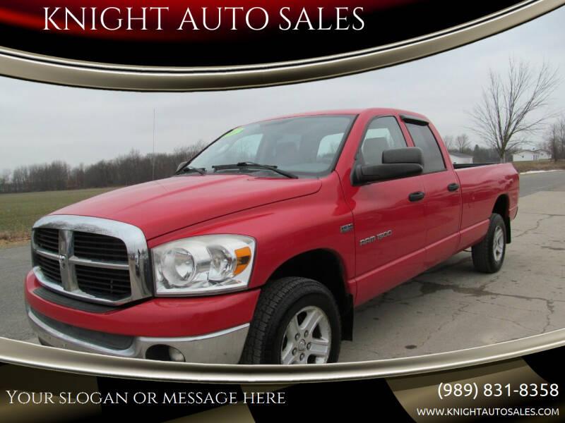 2007 Dodge Ram Pickup 1500 for sale at KNIGHT AUTO SALES in Stanton MI