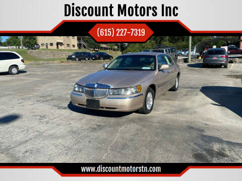1998 Lincoln Town Car for sale at Discount Motors Inc in Nashville TN