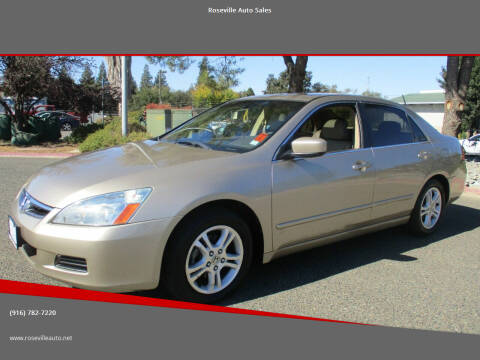 2006 Honda Accord for sale at Roseville Auto Sales in Roseville CA