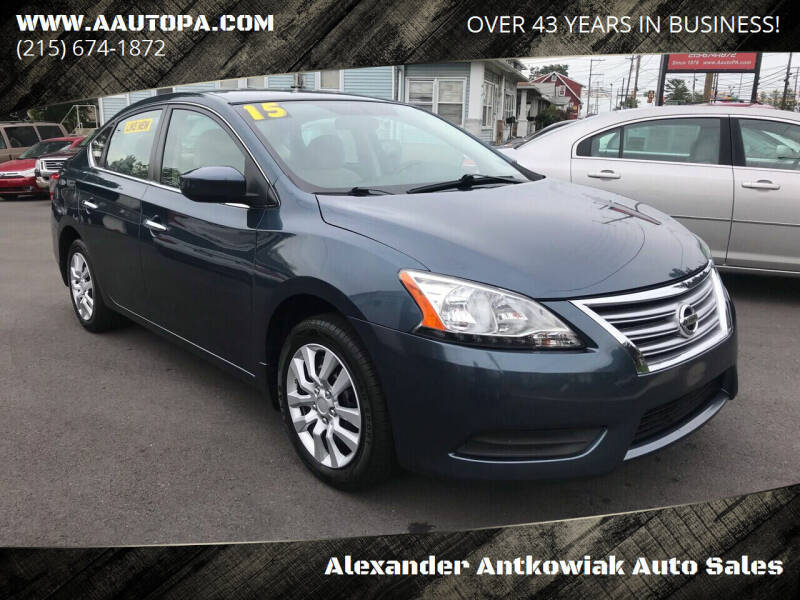 2015 Nissan Sentra for sale at Alexander Antkowiak Auto Sales in Hatboro PA