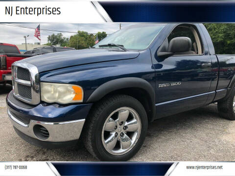 2003 Dodge Ram Pickup 1500 for sale at NJ Enterprises in Indianapolis IN