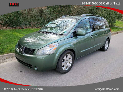 2004 Nissan Quest for sale at CRAIGE MOTOR CO in Durham NC
