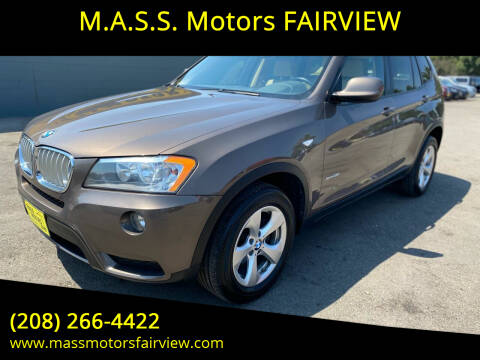 2012 BMW X3 for sale at M.A.S.S. Motors - Fairview in Boise ID