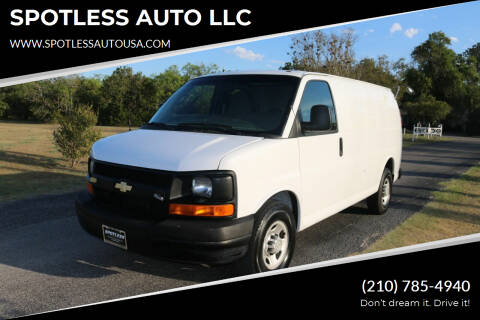 2010 Chevrolet Express Cargo for sale at SPOTLESS AUTO LLC in San Antonio TX