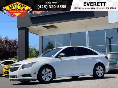 2013 Chevrolet Cruze for sale at West Coast Auto Works in Edmonds WA
