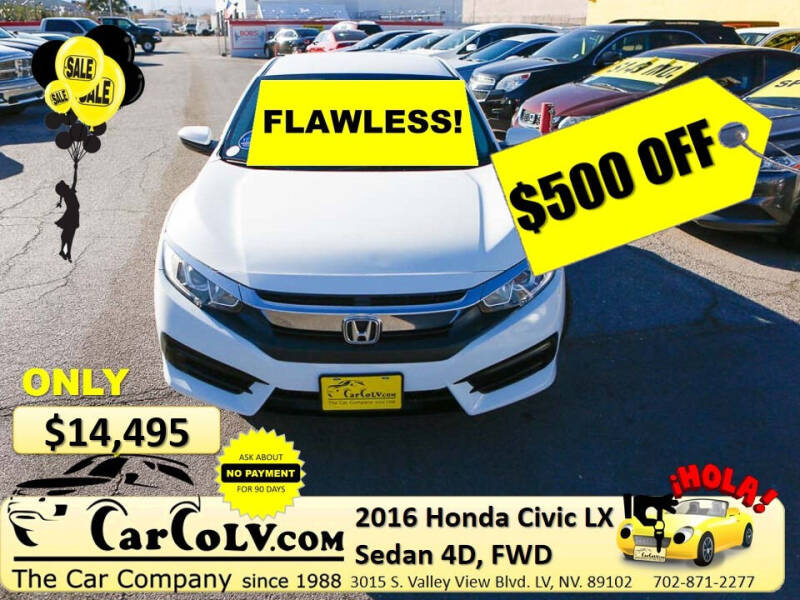 2016 Honda Civic for sale at The Car Company in Las Vegas NV