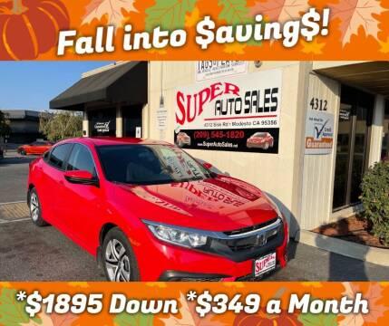 2017 Honda Civic for sale at Super Auto Sales Modesto in Modesto CA