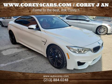 2016 BMW M4 for sale at WWW.COREY4CARS.COM / COREY J AN in Los Angeles CA