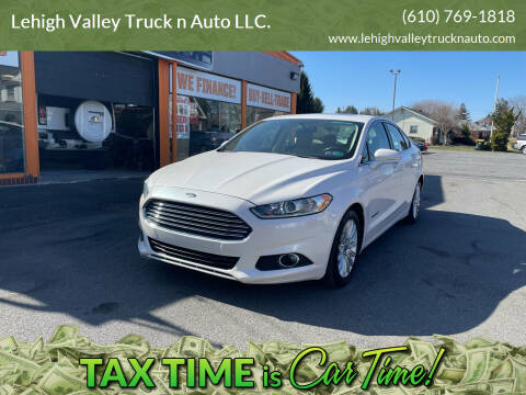 2013 Ford Fusion Hybrid for sale at Lehigh Valley Truck n Auto LLC. in Schnecksville PA
