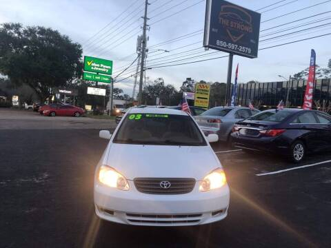 2003 Toyota Corolla for sale at The Strong St. Moses Auto Sales LLC in Tallahassee FL