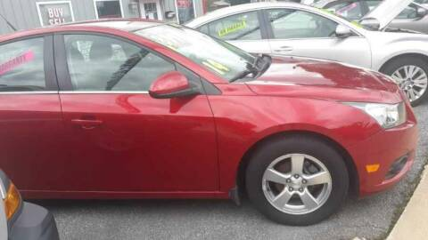 2014 Chevrolet Cruze for sale at McNamara Auto Sales - Red Lion Lot in Red Lion PA